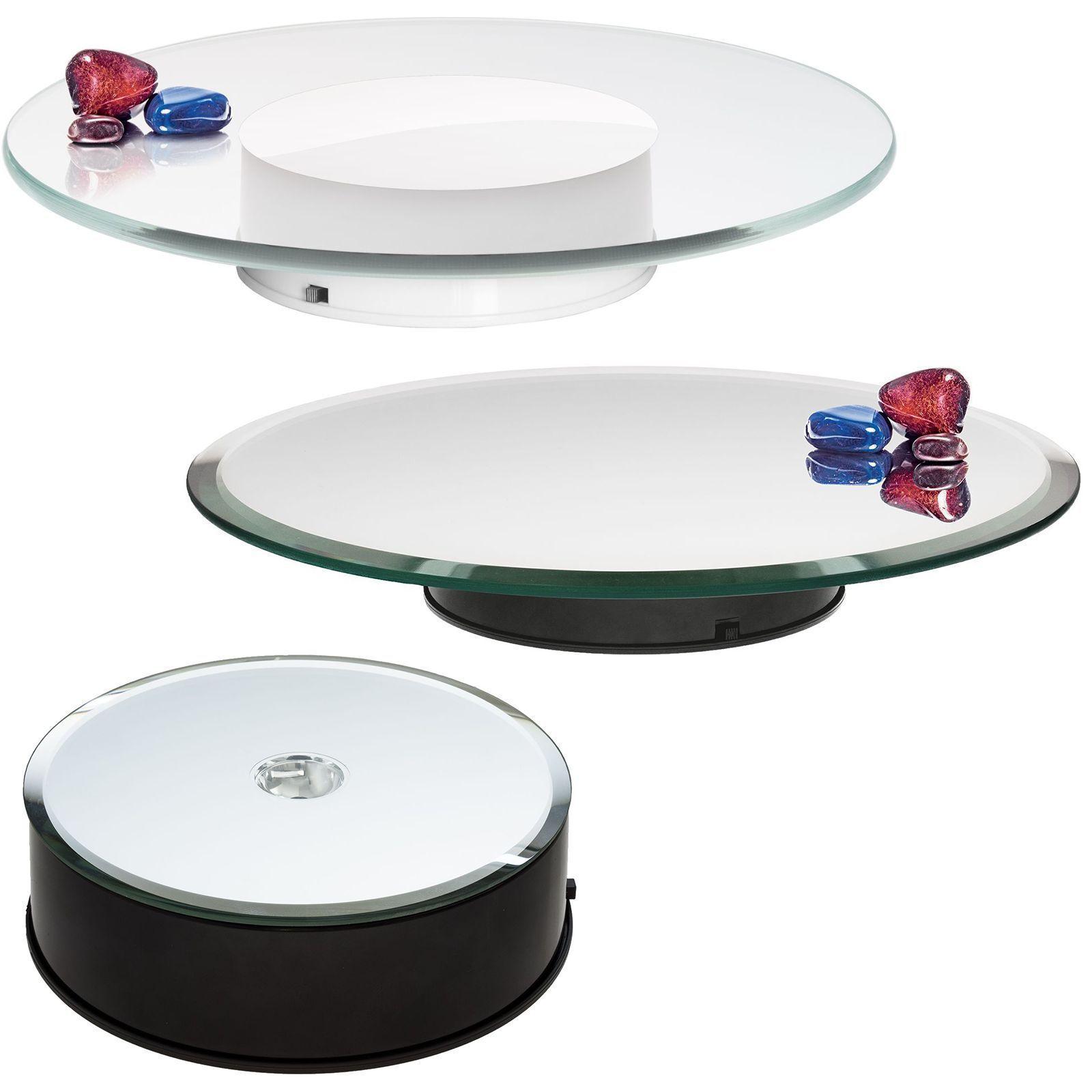 Drehteller 10cm bis 30cm Spiegel- oder Klarglas mit Motor und Netzteil  | Qualitativ Hochwertiges Produkt