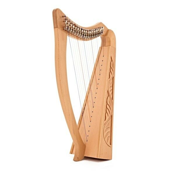 19 String Harp with Levers by Gear4music
