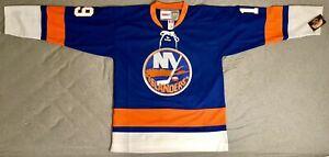 1976-Bryan-Trottier-New-York-Islanders-Blue-Jersey-Size-Men-039-s-Large