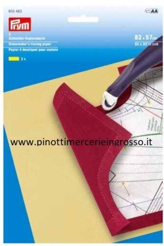 CARTA COPIATIVA DA RICALCO PRYM 610463 SET DA 2 FOGLI GIALLO+CREMA CM 82X57