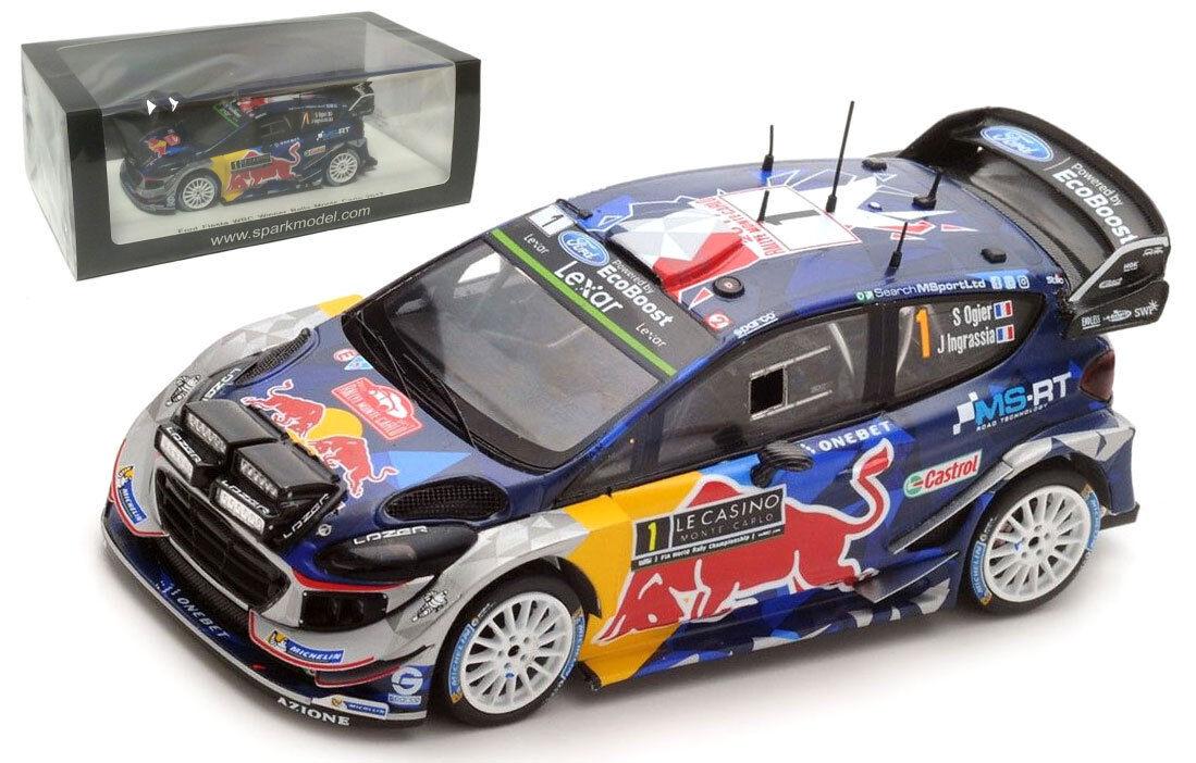SPARK S5154 FORD FIESTA WRC-17  1 Monte Carlo 2017-SEBASTIEN OGIER échelle 1 43