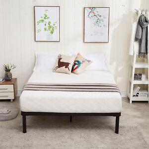 Image Is Loading King Size Metal Platform Bed Frame Wood Slats