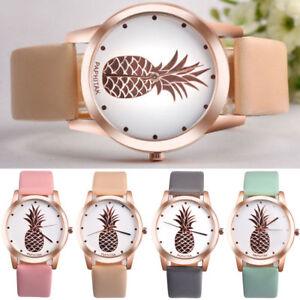 Fashion-New-Women-Stainless-Steel-Pineapple-Watches-Quartz-Analog-Wrist-Watch