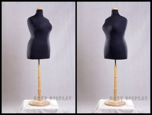 Female Plus Size 18-20 Mannequin Manequin Manikin Dress Form #F18//20BK+BS-R01N