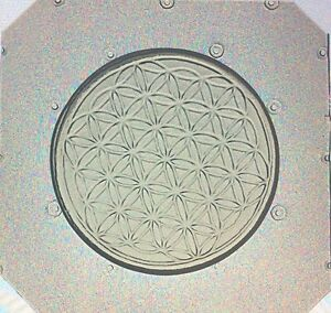 Flexible-Resin-Orgone-Or-Chocolate-2-034-Mold-Sacred-Geometry-Flower-of-Life