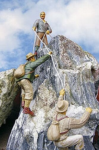 Prehm 500102 alpinistas set 1 con 3 figuras pista G (jardín ferrocarril) nuevo en el embalaje original