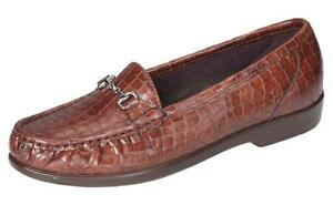 e1fb710548d8 SAS METRO Womens Cognac 2126 329 Leather Comfort Slip On Loafers ...