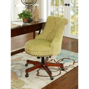 Linon Sinclair Wood Upholstered Office Chair In Green 753793002736 Ebay