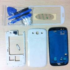 Full Housing Case + Front Screen Glass For Samsung Galaxy S3 ATT I747 T999 White