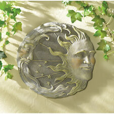 Celestial Sun Moon Star Wall Plaque Astral Garden Decor