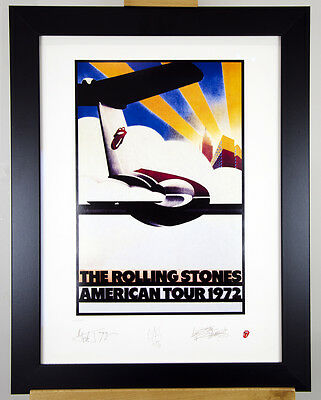 Rolling Stones Limited Edition Tour Posters (Complete Set of 5) Plate Signed