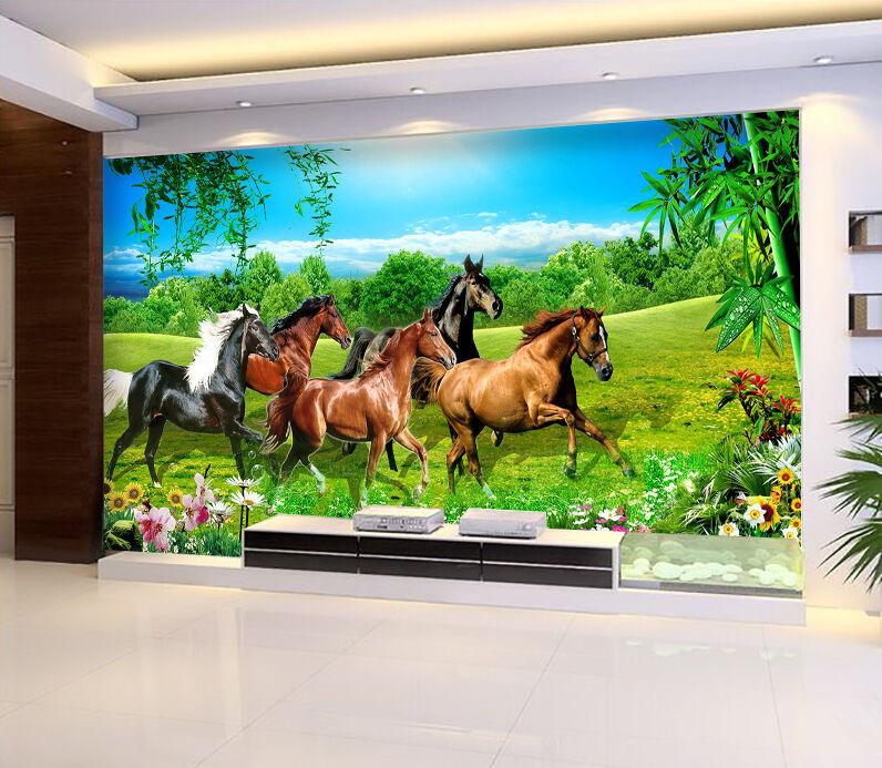 3D Grassland Horses 2283 Paper Wall Print Wall Decal Wall Deco Indoor Murals