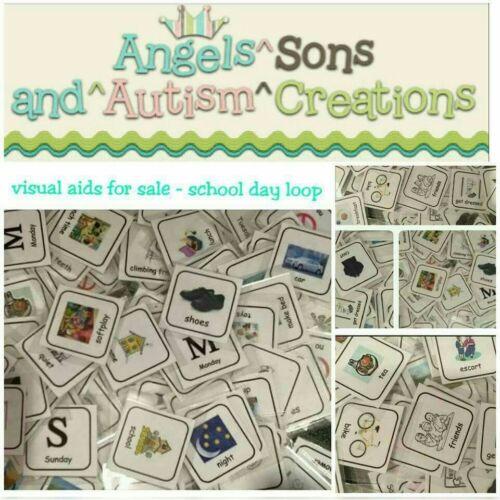Día de la escuela ayudas visuales//pectorales Tarjetas-Autismo//no verbal//Sen//ASD