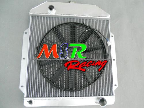 for 1949-1953 Ford v8 Cars 49 50 51 52 53 aluminum coolant radiator /& fan