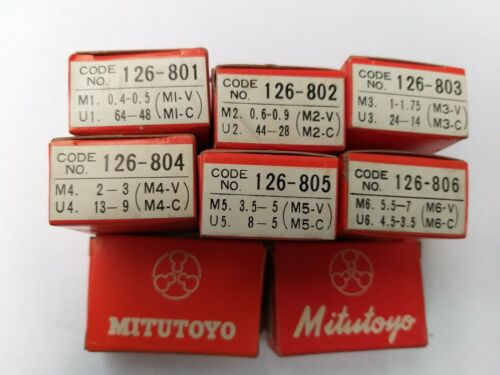 Mitutoyo Screw Thread Micrometre 126-801or 126-802or 126-803or 126-804or 126-805