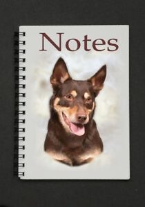 Kelpie-Dog-Notebook-Notepad-with-a-small-image-on-every-page-by-Starprint