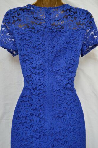 Neuf Wallis dentelle Shift Dress Floral Navy Cobalt Parti Occasion mariage 8-18