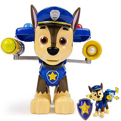 Paw Patrol Action Pack Pup & Badge Shield Dog Backpack Projectile Toy - Chase