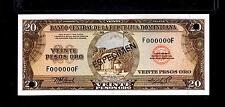 "1976 Republica Dominicana $20 Pesos ORO""SPECIMEN"" UNCIRCULATED"
