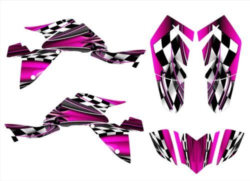 Suzuki LTZ400 graphics decals 2009 2010 2011 2012 2013 2014 2015 2016 #2500-Pink