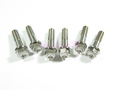 10mm Hex M8 x 25mm Titanium Ti Bolt Flange Head Screw Fastener GR5 2//6//10pcs