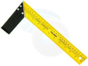 Marque Populaire 12 Inches 30cm Construction Carpenter Ruler L Shape Angle Square Ruler BéNéFique Au Sperme