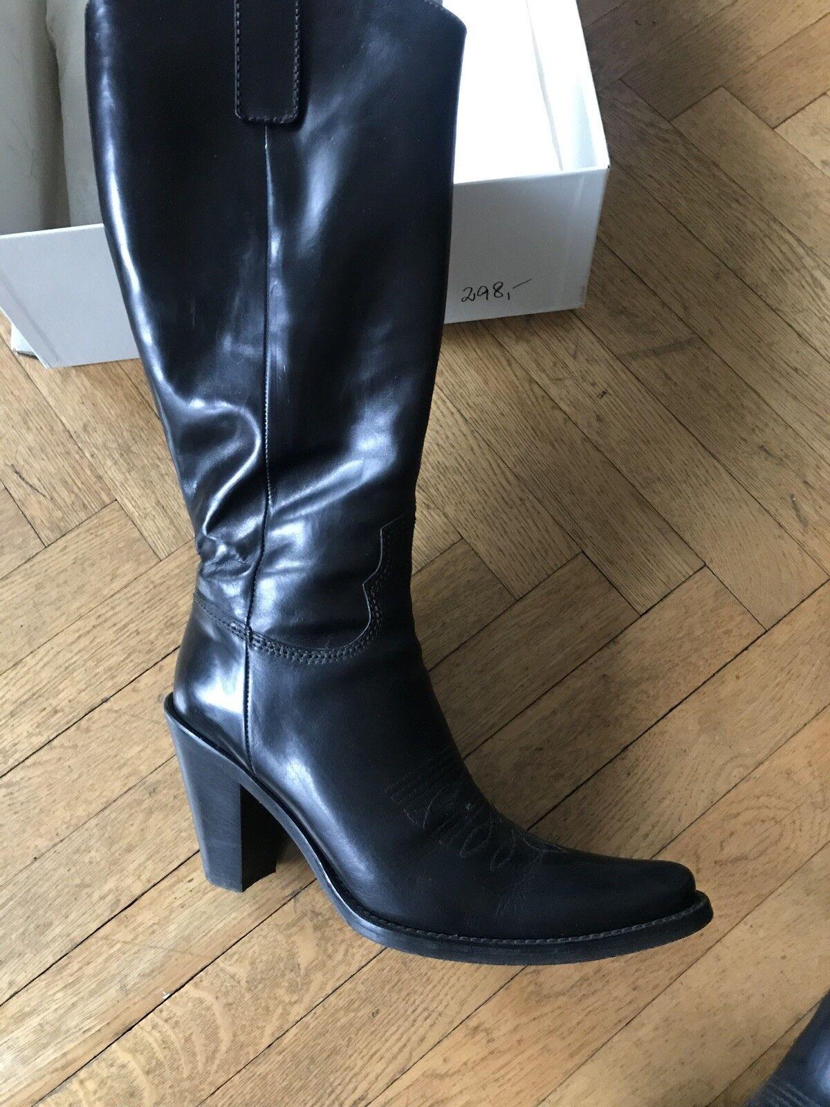 Alberto Gozzi Stiefel  schwarz Größe  38  wie neu