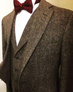 Image Is Loading Men 039 S Khaki 3pcs Vintage Tweed Dinner