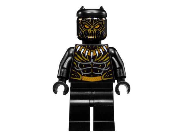 RETIRED LEGO Marvel - ERIK KILLMONGER Minifigure - 76099 split - Black Panther