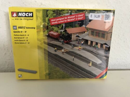 NOCH 66012 Bahnsteig 18 cm lang Hartschaum handkoloriert Epoche III-IV Neu 2020