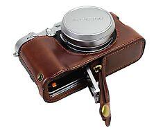 PU Leather Half Camera Case Bag Cover for Fuji Fujifilm x100f  X100 F Coffe