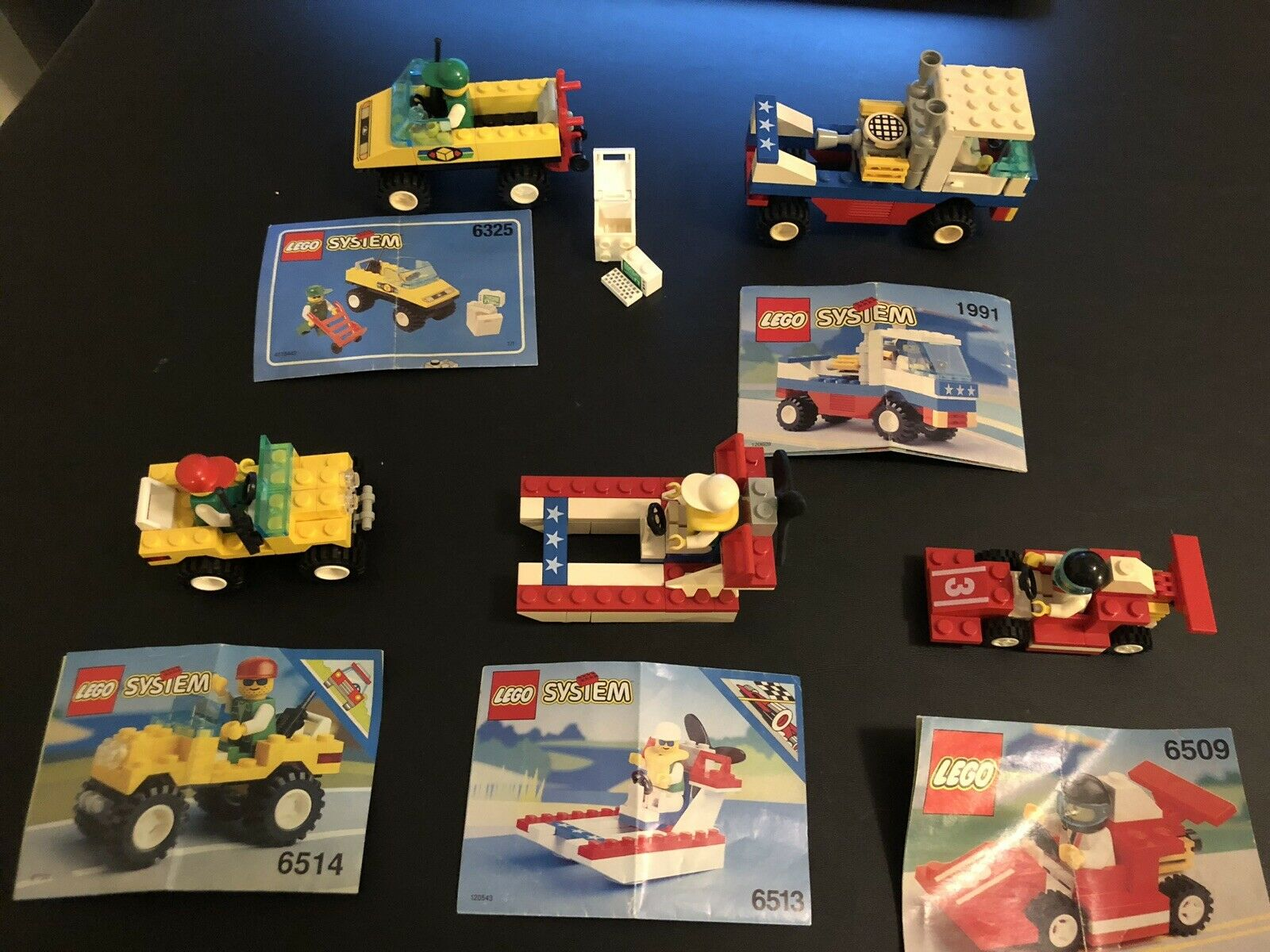 Vintage LEGO System Lot 6325 6513 1991 6509 6514 6514 6514 Complete Minifigs Instructions 462756