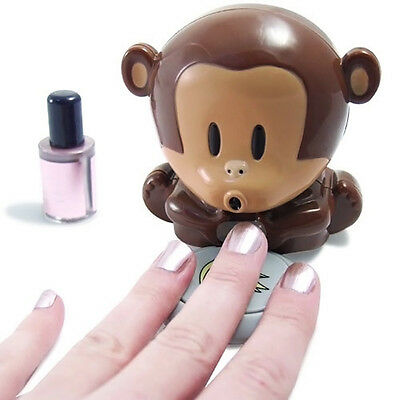 New Cute Monkey Hand Nail Art Polish Blower Quick Blow Dryer Manicure Care
