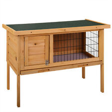 """New 35"""" Wooden Chicken Coop Hen House Pet Animal Poultry Cage Rabbit Hutch w/Run"""