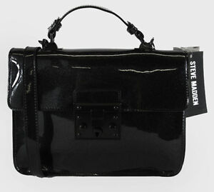 Image Is Loading Steven By Steve Madden Lincoln Black Faux Leather