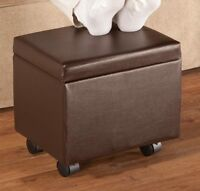 Flip Cover Ottoman By Oakridgetm, Brown on sale
