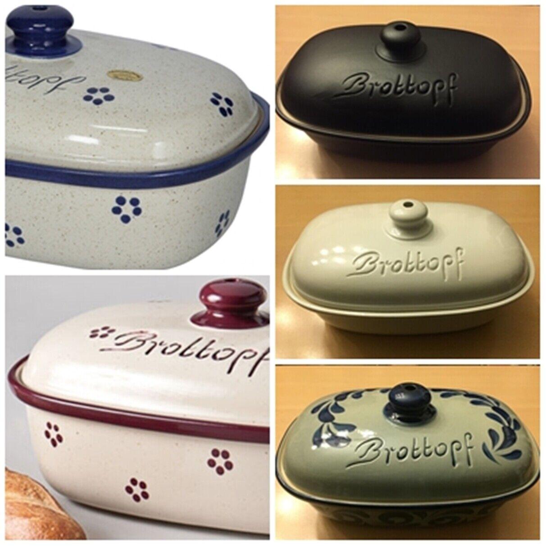 Pan olla con tapa cerámica apepitoso gres pan olla hornear pan pan recuadro