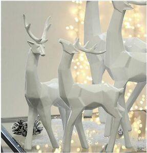 Casablanca skulptur hirsch rentier wei 37cm poly - Weihnachtsdeko modern ...