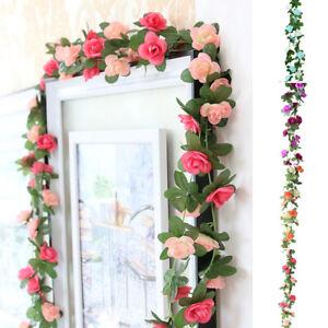 Am-1Pc-Artificial-Flower-Vine-Garland-Garden-DIY-Party-Home-Wedding-Decor-Relia
