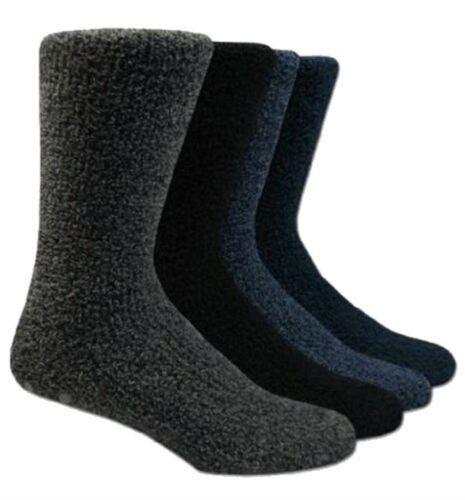 4 Paire Homme Confortable Polaire douce antidérapants Slipper//Salon Chaussettes-Couleurs mélangées 6-11