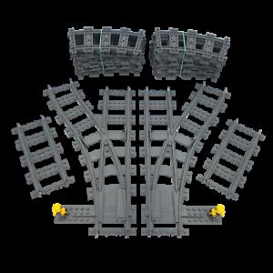 Lego RC Eisenbahn TRAIN 7895 7896 Schienen SET Weichen 7499 60205 TRACKS G