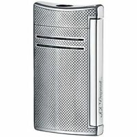 S.t. Dupont Maxijet Lighter, Chrome Grid, 20157n (020157n), In Box