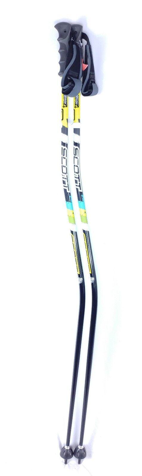 Scott WC GS RACE Bent ski poles sizes 54  inch aluminum w  grip adjust