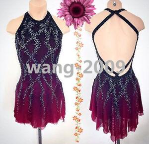 acbac2cf57852 Details about Figure Skating Dress Women Ice Skating Dresses Custom wine  red black