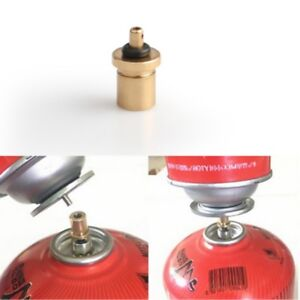 Details about Gas Refill Adapter Copper Outdoor Camping Stove Cylinder  Filling Butane Canister