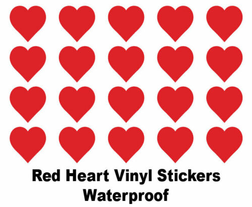 Coloured Sticky Self-Adhesive Vinyl Heart Stickers Heart Shaped Vinyl Stickers