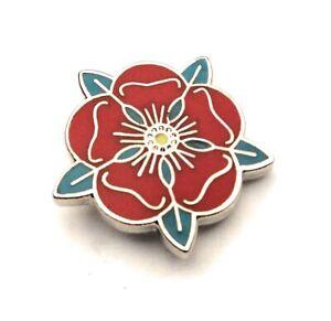Lancashire County Red Rose Lapel Pin badge FREE UK P/&P