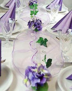 Komplette Tischdeko In Lila Flieder Fur Hochzeit Geburtstag