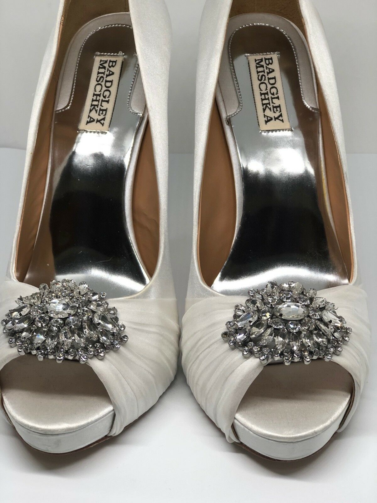 Badgley Mischka Jeannie Peep Größe Toe Pumps in Ivory Größe Peep 10 Bridal / Evening Heels 5484b1