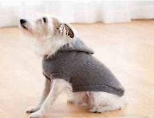 DOG COAT KNITTING PATTERN - HOODED COAT SMALL TO EX LARGE ...